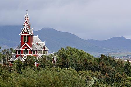 Norwegen - Lofoten - Buksnes Kirche in Gravdal