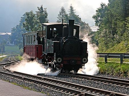 Österreich - Achensee - Wahrzeichen am See: die Dampfzahnradbahn