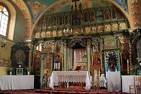 Polen - Waldkarpaten - Ikonostase in der Kirche von Smolnik