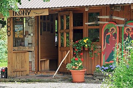 Polen - Waldkarpaten - Ikonen-Geschäft in Cisna