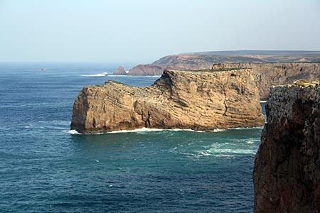 Portugal - am Ende der Ecovia litoral auf dem Kap