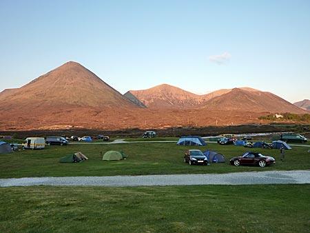 Schottland - Isle of Skye - auf dem Sligachan-Campingplatz