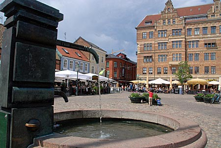 Schweden - Malmö - Brunnen am Lille Torg