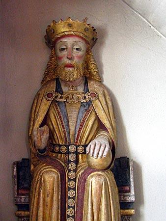 Schweden - Statue des heiligen Olaf in der Kirche von Borgsjö