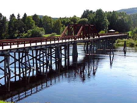 Schweden - Vikbron - die längste Holzbrücke am Olafsweg