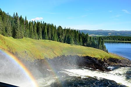 Schwedens breitester Wasserfall Tännforsen