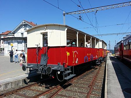 Schweiz - Appenzeller Witzweg - historische Zahnrad-Bergbahn (Rorschach-Heiden-Bergbahn)