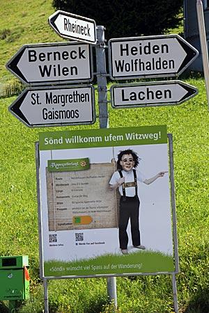 Schweiz - Appenzeller Witzweg - Wegwieser