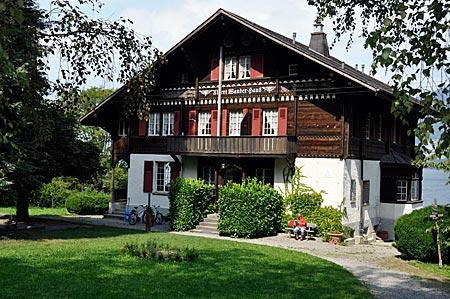 Jugenherberge Albert-Wander-Haus in Leissigen am Thunersee, Berner Oberland, Schweiz