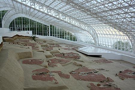 Serbien - archäologische Ausgrabungsstätte und das Museum Lepenski Vir