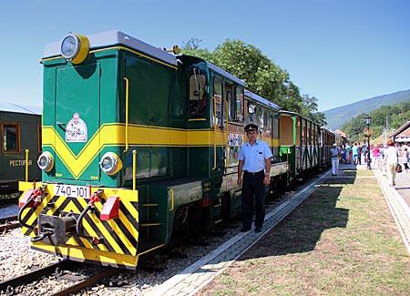 Serbien - Sargan 8 im Bahnhof von Mocra Gora