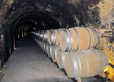 Spanien - Rioja - Weinfässer in den Bodegas Marqués de Arviza