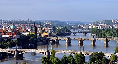 Moldau-Brücken, Prag, Tschechien