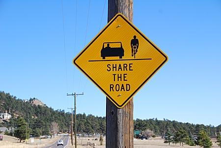 USA - Colorado - Verkehrsschild in Boulder