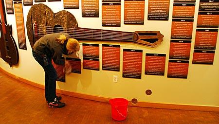 USA - Colorado - Boulder - Die Ruhmeshalle des Red Rock Theatre erinnert an große Ereignisse
