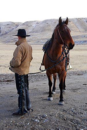 USA - Nevada - Reiter mit Pferd
